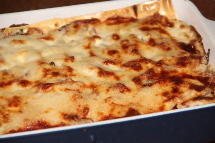 Lasagnes champignons et jambon à la parisienne