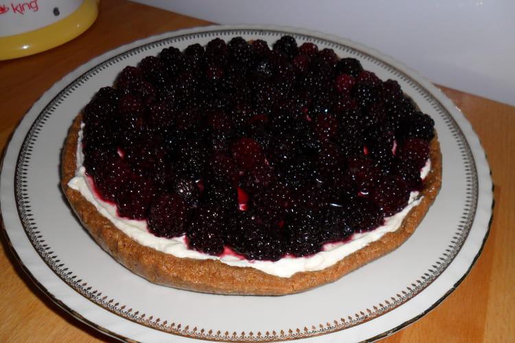 Cheesecake léger à la crème anglaise et aux mûres