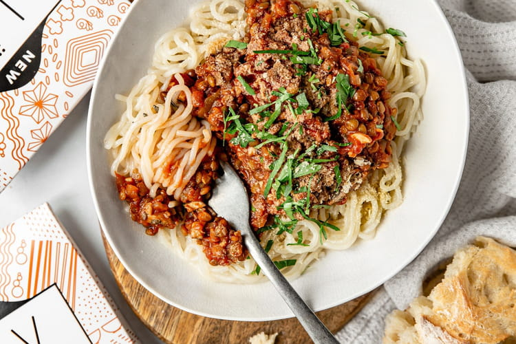 Spaghettis bolognaise vegan