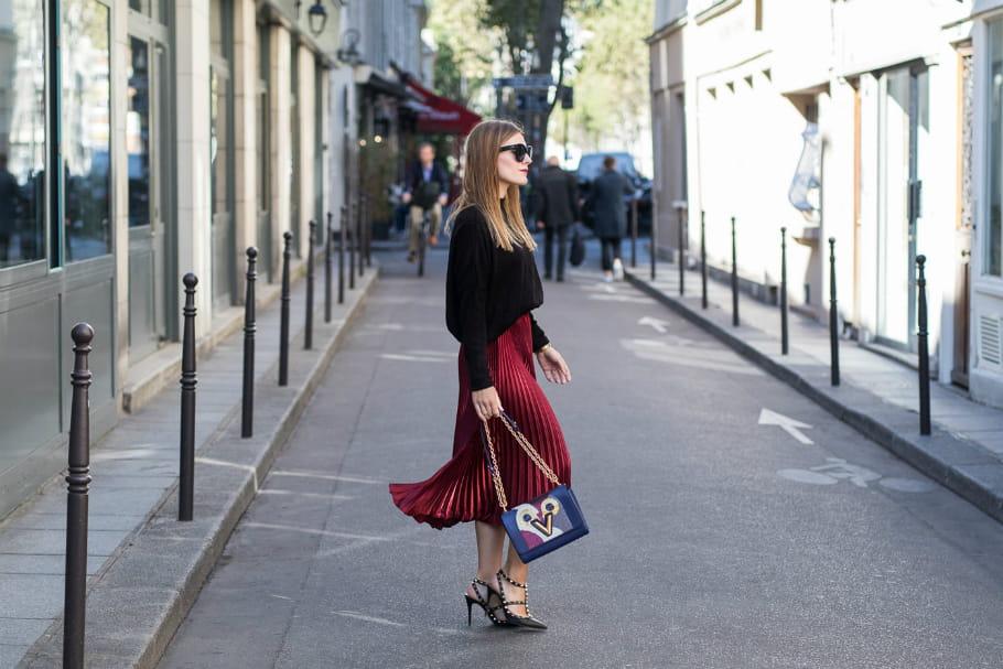 Le look blogueuse de la semaine: Magdalena I. à la fashion week de Paris