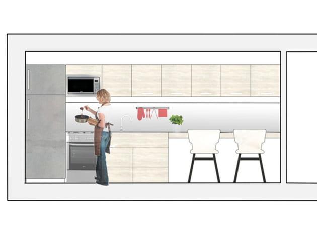 La cuisine en I, idéale pour les petits espaces