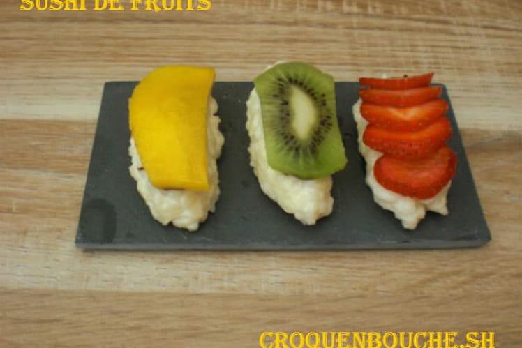 Sushi de fruits