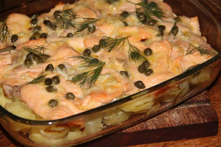 Saumon mariné aux agrumes et câpres