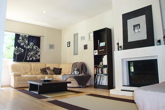 salon contemporain. Black Bedroom Furniture Sets. Home Design Ideas