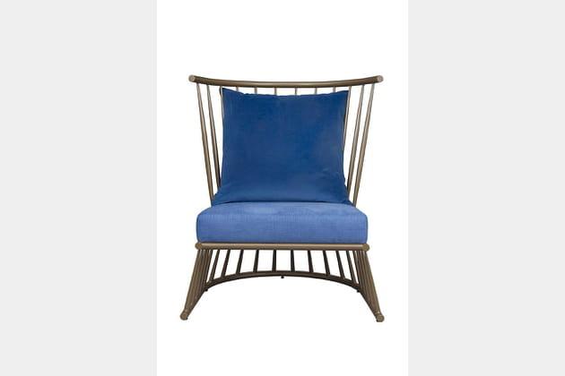 Fauteuil Windsor en bleu indigo de Hamilton Conte