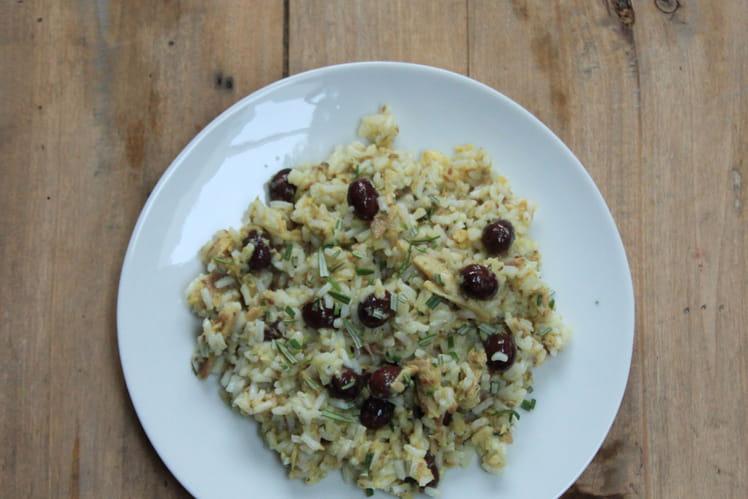 Salade de riz aux sardines et aux épices