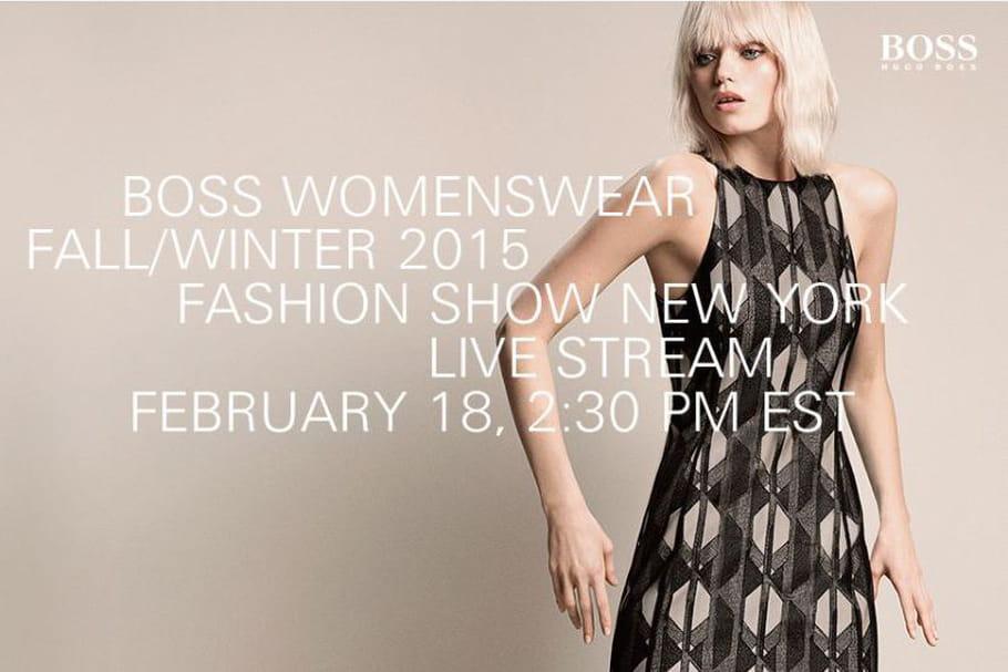 La vidéo du défilé BOSS Womenswear prêt-à-porter automne-hiver 2015-2016