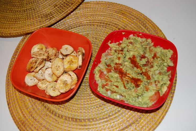 Chipitos de macho et leur guacamole épicé