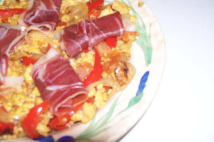 Piperade au jambon de Bayonne