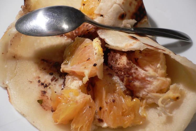 Pâte à crêpes à la fleur d'oranger