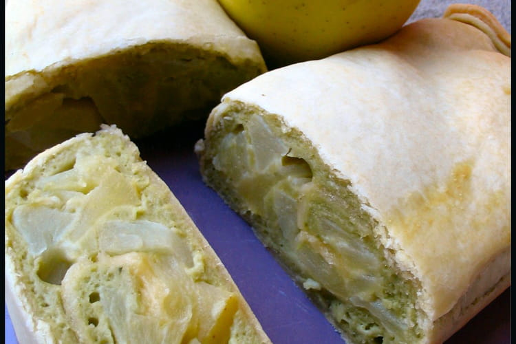 Lingot aux pommes et thé vert