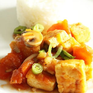 tofu sauté à la tomate