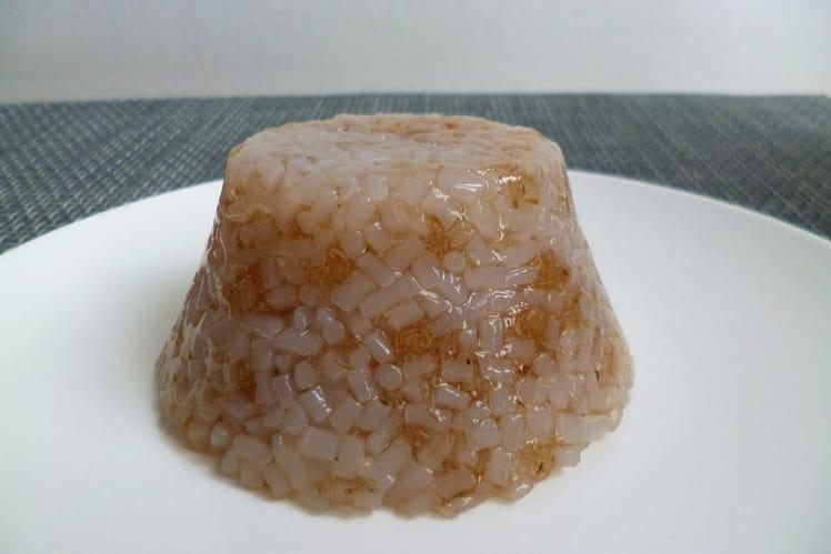 Gâteau de riz de konjac au sirop d'érable et au psyllium
