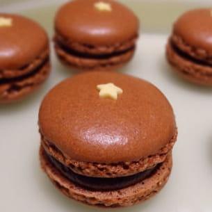 macaron chocolat cœur caramel