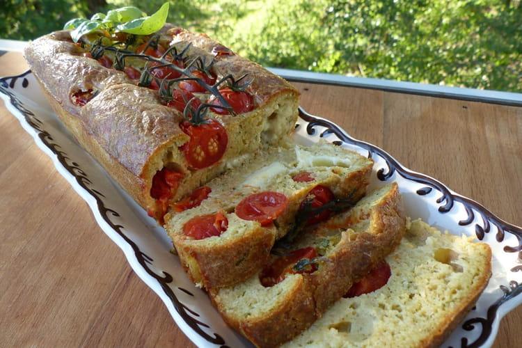 Cake caprese (tomate, mozzarella et pesto)