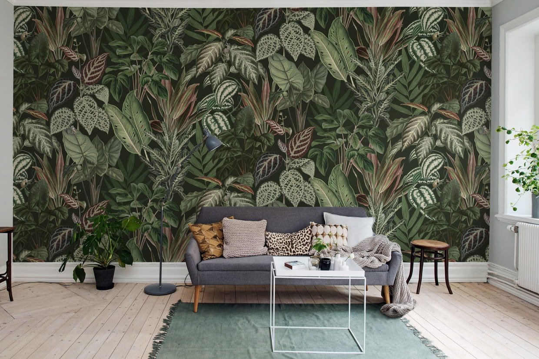 Papier Peint Motif Nature le papier peint végétal dépayse l'ambiance - le journal des