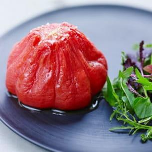 tomate confite au citron vert