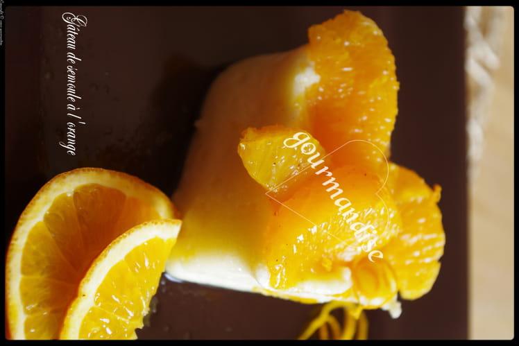 Gâteau de semoule à l'orange et cannelle