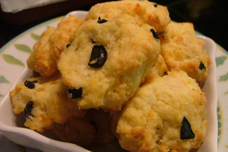 Cookies aux olives noires et crevettes