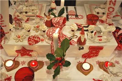 zoom sur le centre de table décoré