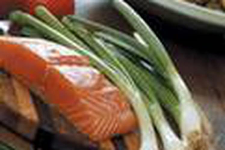 Pavés de saumon aux poireaux en papillote