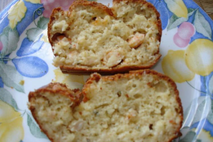 Cake au crabe et crevettes