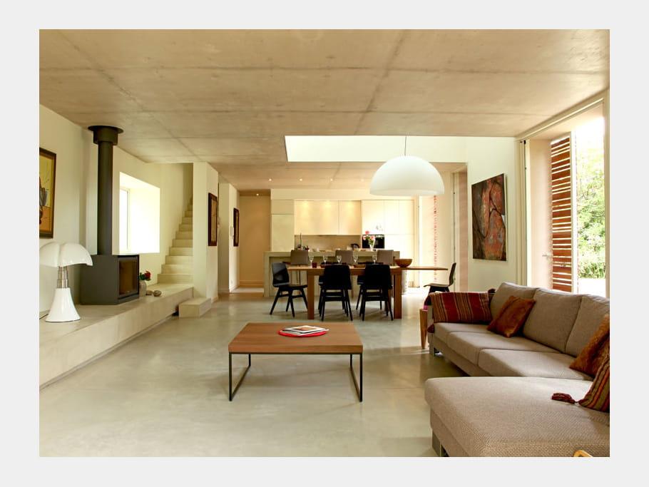 Lignes contemporaines maison contemporaine en pleine for Deco sejour contemporain