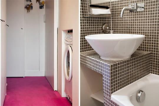 Optimisation de l 39 espace for Salle de bain dans un couloir