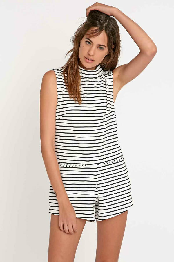 Urban The Fifth Combishort Lonely Sea rayures blanches 77 © SdP Urban  Outfitters 6fb8f841df41