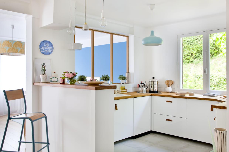 Difference Blanc Brillant Et Blanc Laqué cuisine blanche : 55 photos pour une pièce ultra lumineuse