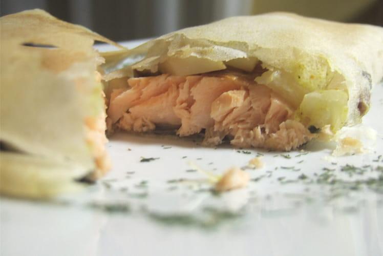 Pastilla de saumon au céleri-rave