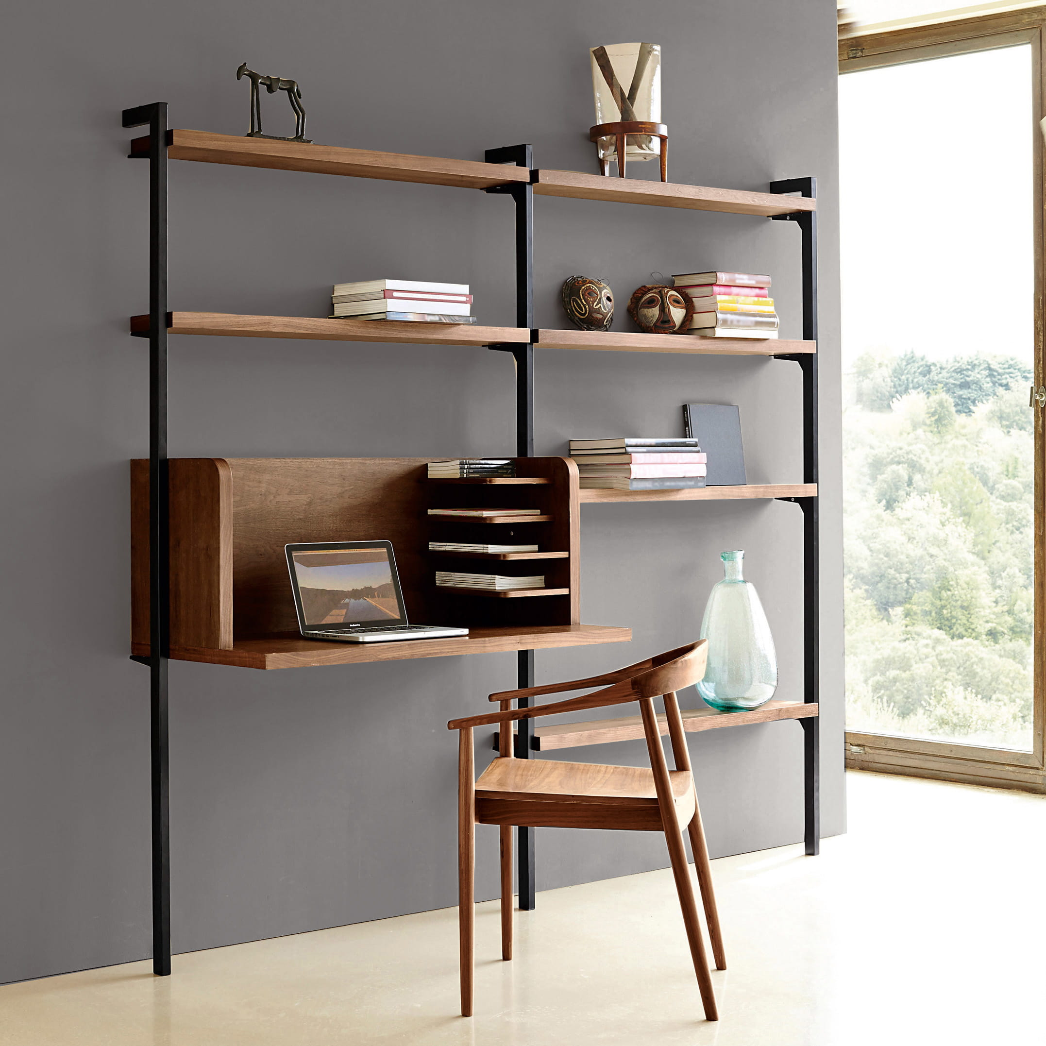module de bureau en noy plaqu am pm. Black Bedroom Furniture Sets. Home Design Ideas