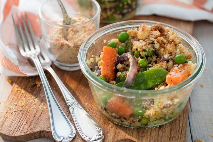 Crumble de légumes au quinoa