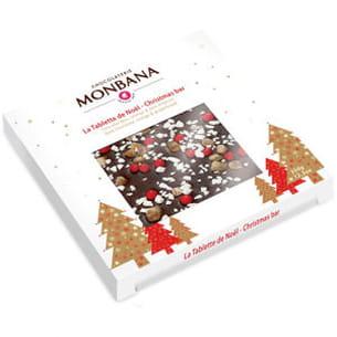 la tablette de noël de la chocolaterie monbana