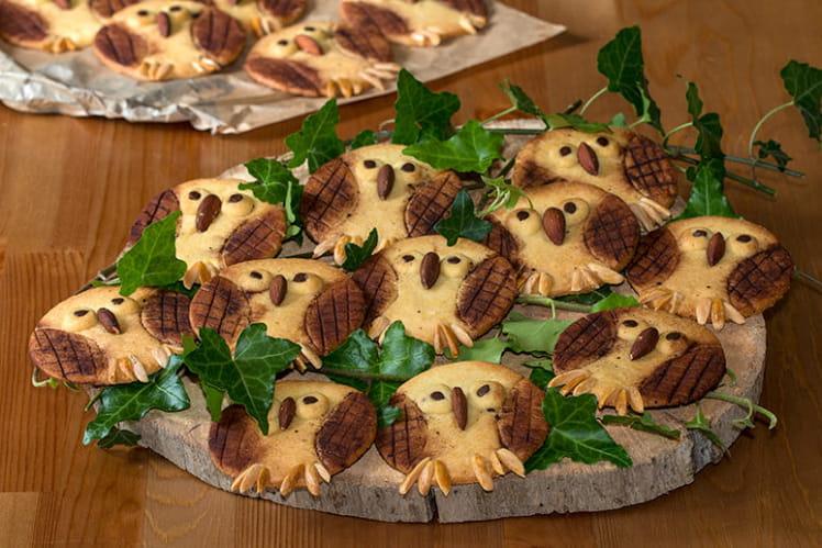 Biscuits sablés chouettes ou hiboux
