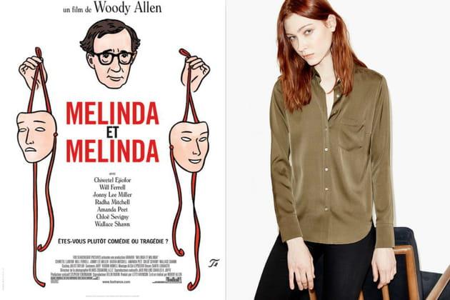 """Un chemisier en soie façon Laurel dans """"Melinda et Melinda"""""""