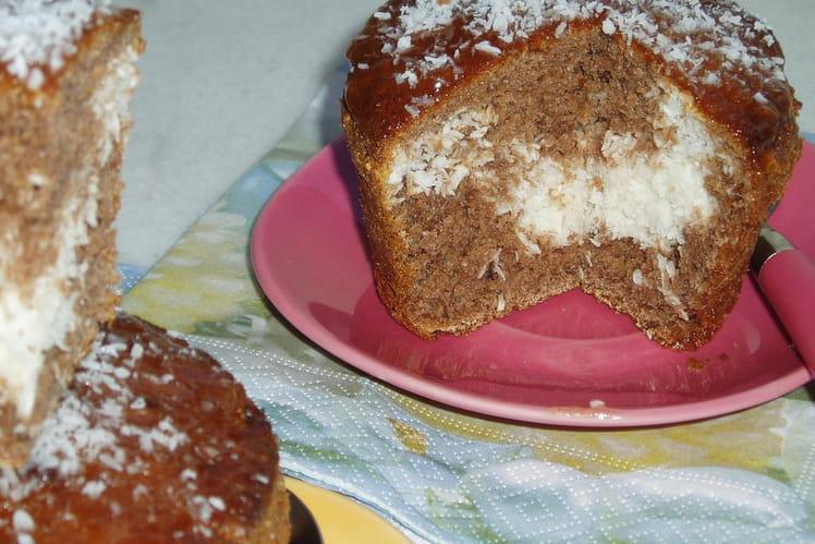 Gâteaux au cacao et noix de coco
