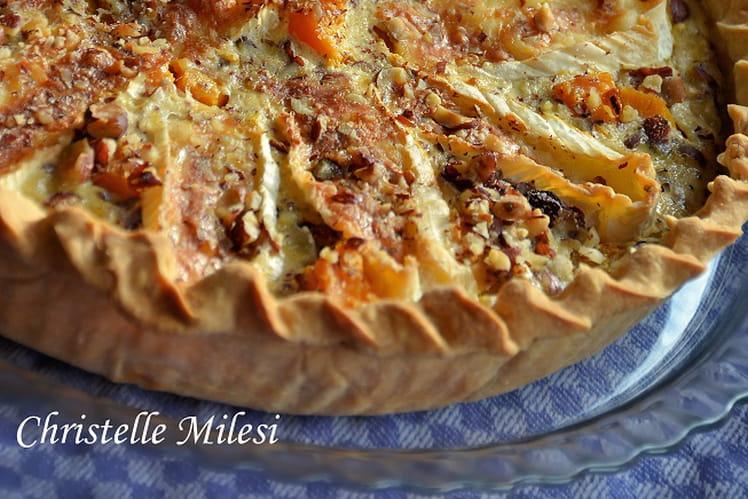 Tarte butternut, brie et noisettes