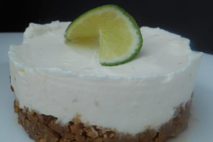 Cheesecake sans cuisson au citron vert et spéculoos
