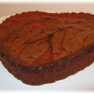 marbré fraise chocolat
