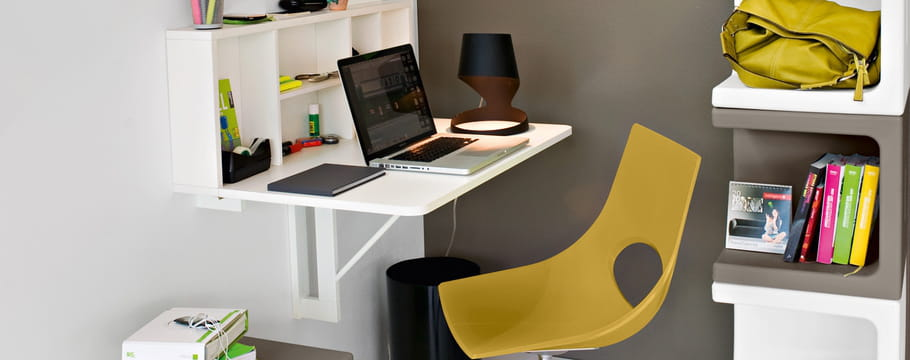 Secr taire un meuble l gant et gain de place pour le bureau - Secretaire sous le bureau ...