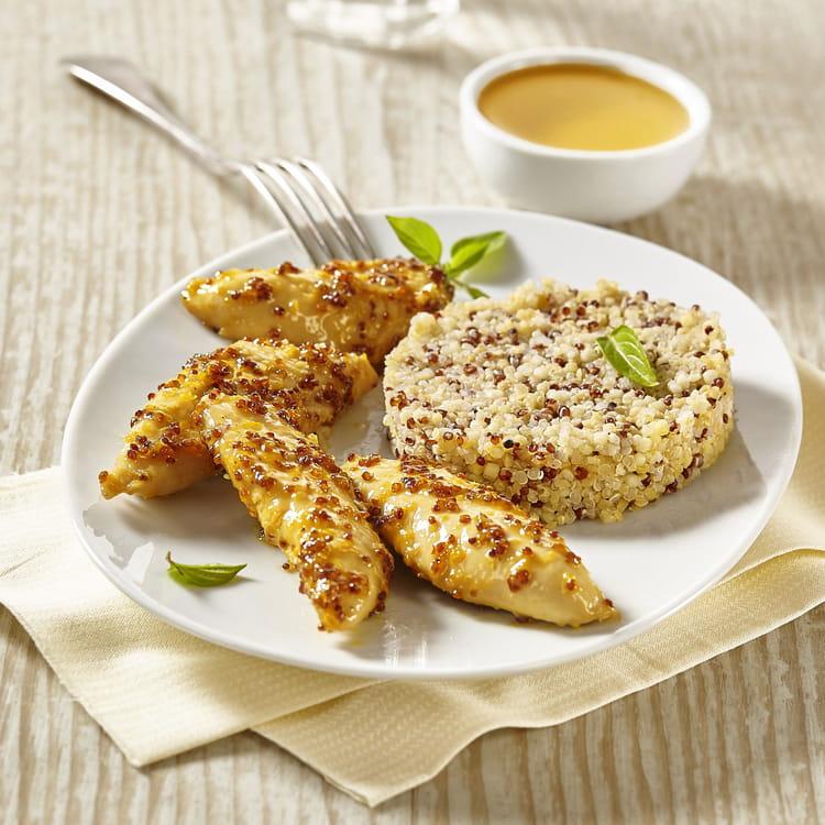 Aiguillettes de poulet miel/moutarde et son Quinoa Délice ...
