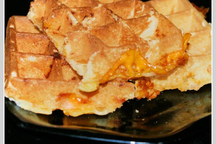 Gaufres salées jambon fromage mimolette