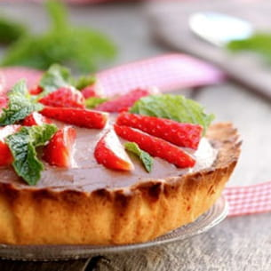 tarte after eight aux fraises