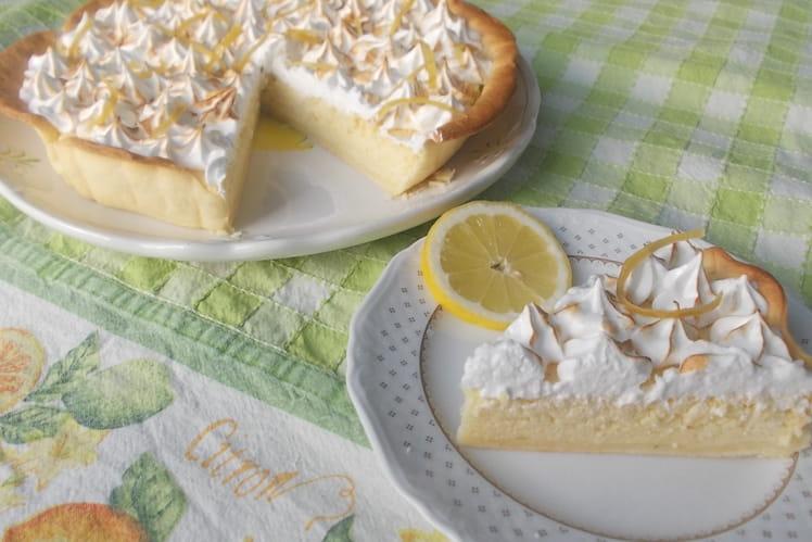 Tarte magique au citron meringué