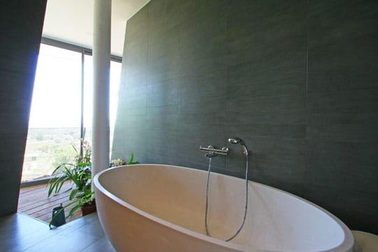 Ouverture sur la baignoire