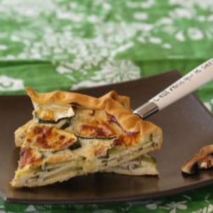 tarte aux courgettes anisée