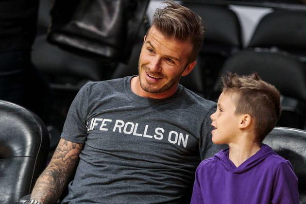 David Beckham et son fils Roméo