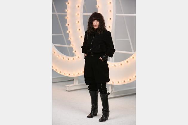 Isabelle Adjani au défilé Chanel