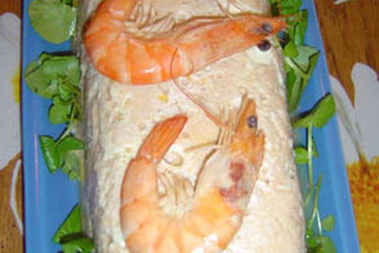 Terrine de poisson et crevettes
